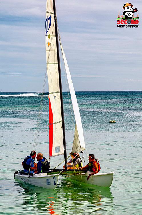 Boat on Flic En Flac Beach