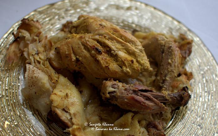 Chicken zameen doz plated