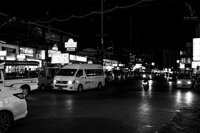 Phuket in black and white