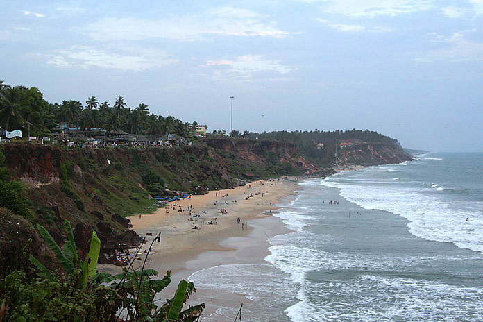 Varkal Beach in Thiruvananthapuram