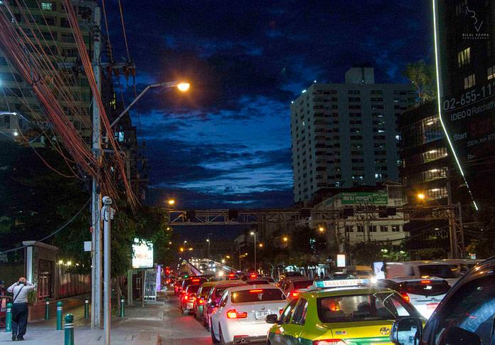 The Bustling Bangkok Life under the Blue Sky