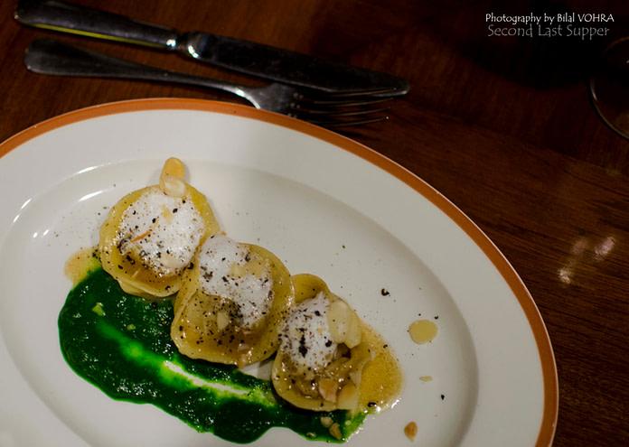 Italian Pasta with mushroom stuffing