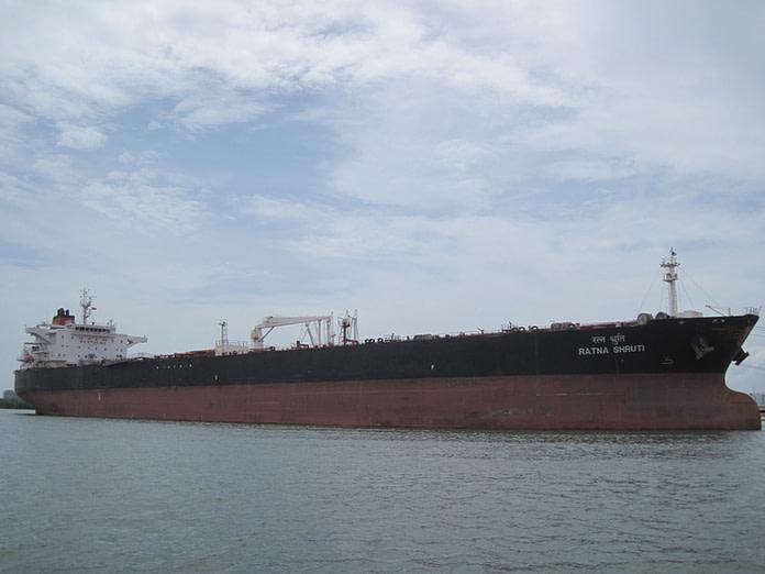 Very big vessel in water