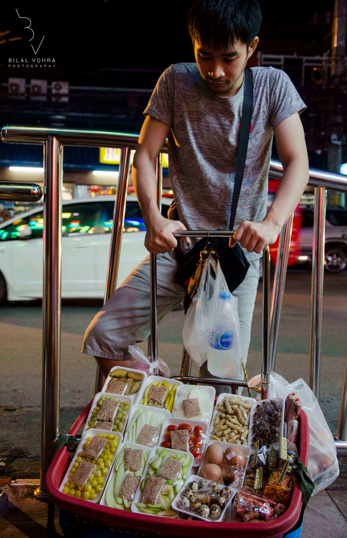 Roadside vendor street food of Phuket